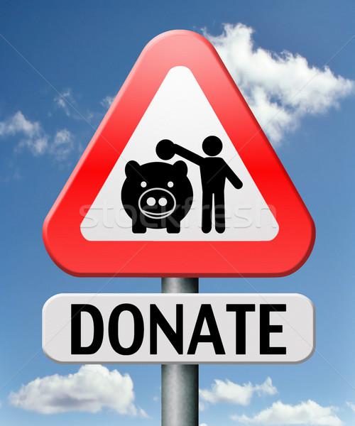 donate money Stock photo © kikkerdirk