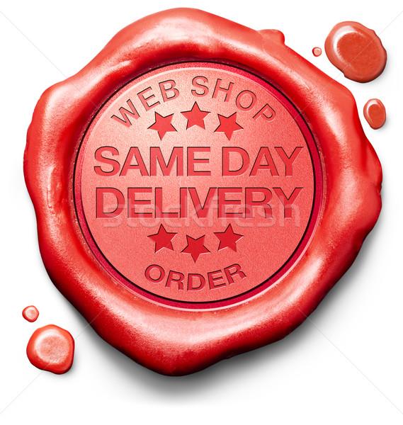 Dag levering webshop om scheepvaart online winkelen Stockfoto © kikkerdirk