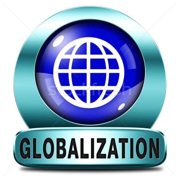 Globalizáció globális nyitva piac nemzetközi világszerte Stock fotó © kikkerdirk