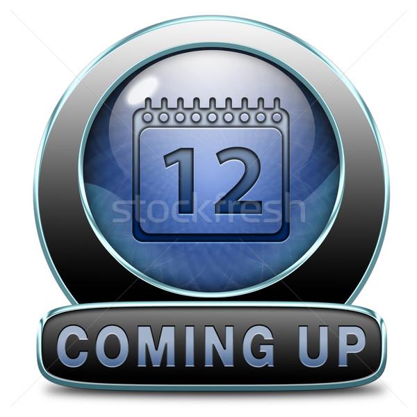 Stockfoto: Omhoog · spoedig · toekomst · icon · knop · teken