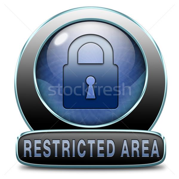Sınırlı giriş parola korumalı bilgisayar güvenlik Stok fotoğraf © kikkerdirk