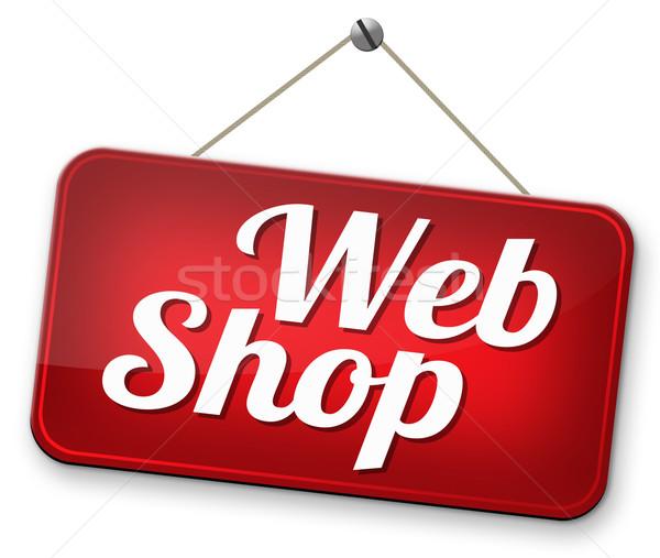 Webshop verkeersbord kopen verkopen internet web Stockfoto © kikkerdirk