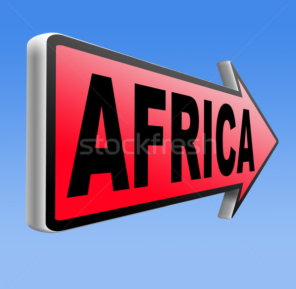 Afrika felirat földrész turizmus vakáció úticél Stock fotó © kikkerdirk