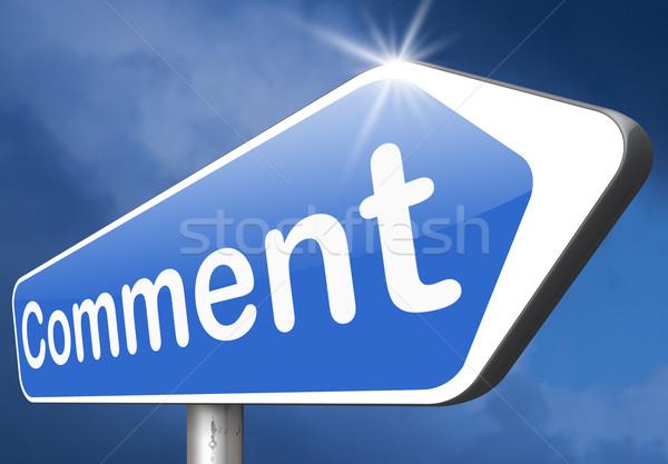 Megjegyzés ír vásárló felhasználó termék visszajelzés Stock fotó © kikkerdirk