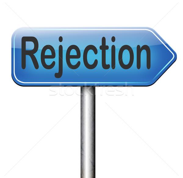 Foto stock: Rejeição · carta · trabalho · medo · visa · real