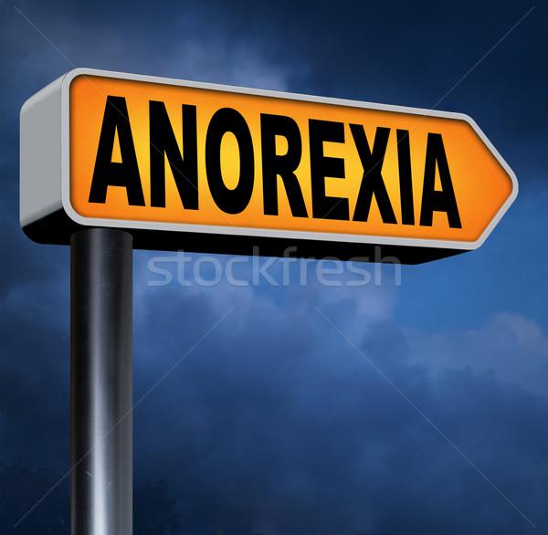Anorexia eten wanorde gewicht het voorkomen behandeling Stockfoto © kikkerdirk
