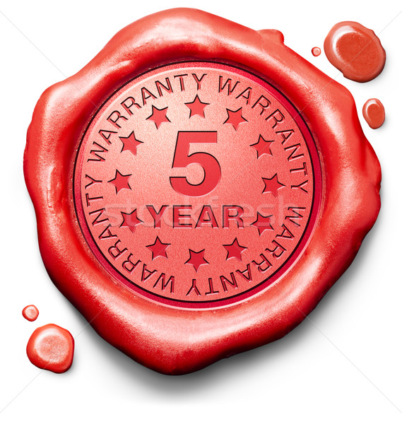 five year warranty Stock photo © kikkerdirk