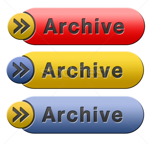 archive button Stock photo © kikkerdirk