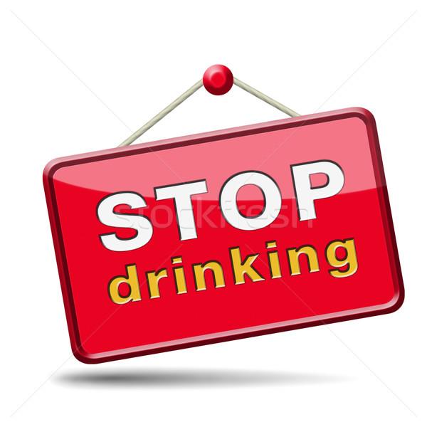 Stop iszik alkohol rehabilitáció rehab terápia Stock fotó © kikkerdirk