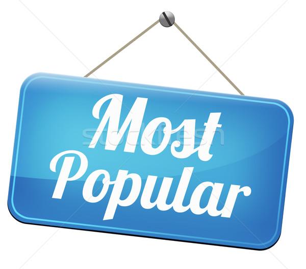 популярный знак популярность Лидеры продаж рынке лидера Сток-фото © kikkerdirk