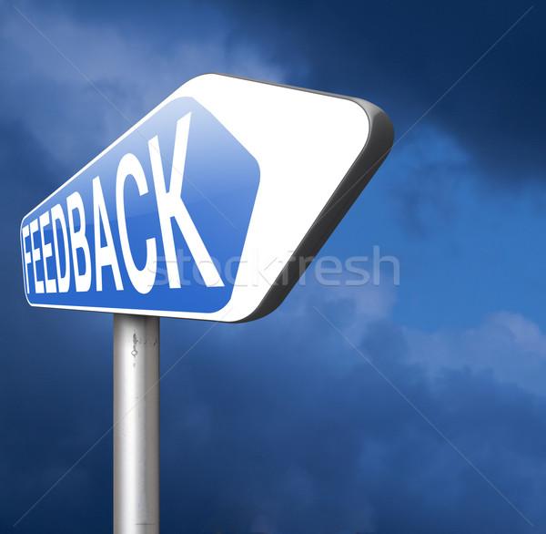 Stok fotoğraf: Geribesleme · yol · işareti · gelişme · müşteri · memnuniyeti