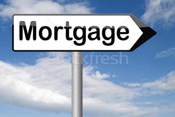Mutuo casa prestito soldi indietro Foto d'archivio © kikkerdirk