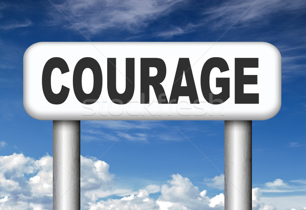 Stock photo: courage