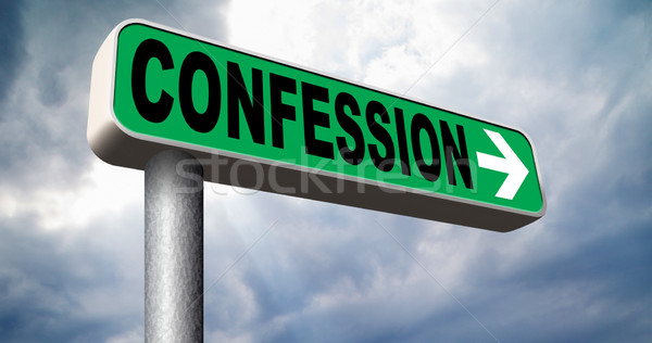 confession sign Stock photo © kikkerdirk