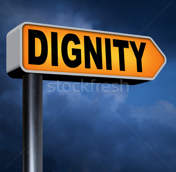 Сток-фото: достоинство · уважение · уверенность · гордость · дорожный · знак