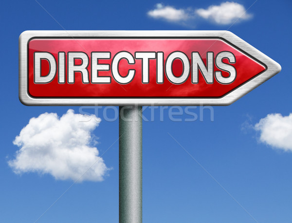 find directions Stock photo © kikkerdirk