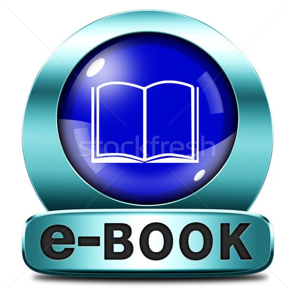 ebook icon Stock photo © kikkerdirk