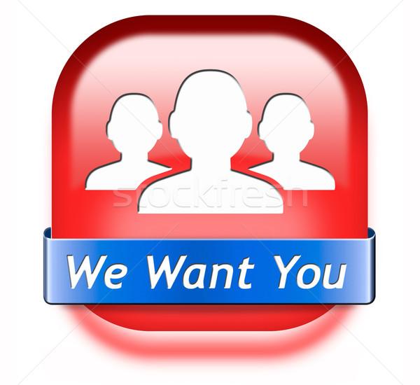 we want you button Stock photo © kikkerdirk