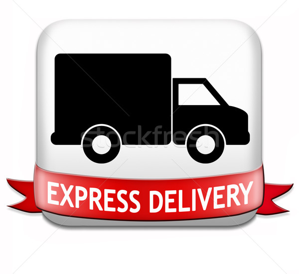 Express package delivery Stock photo © kikkerdirk