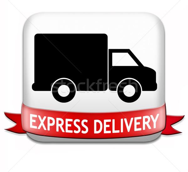 Pakketdienst express pakket scheepvaart online Stockfoto © kikkerdirk