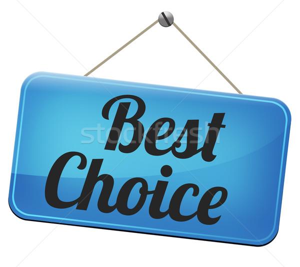 Legjobb választás felső minőség címke legjobb termék Stock fotó © kikkerdirk