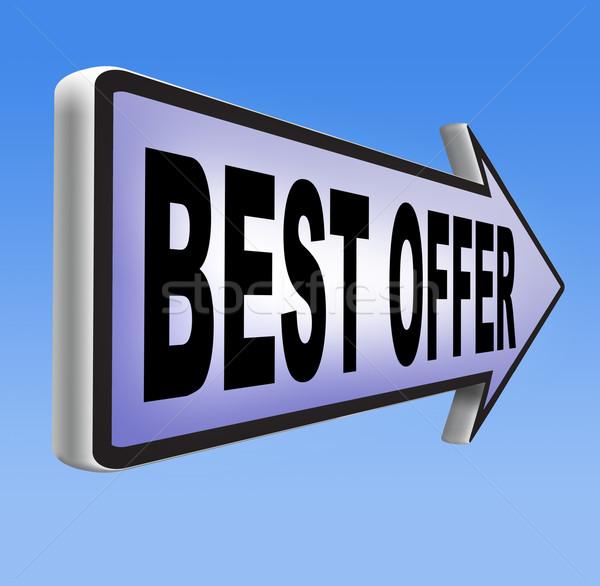 Legjobb ajánlat ár érték háló bolt Stock fotó © kikkerdirk