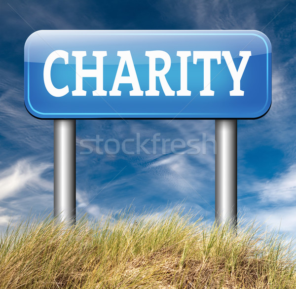 Caridade doação dinheiro dom doar dar Foto stock © kikkerdirk