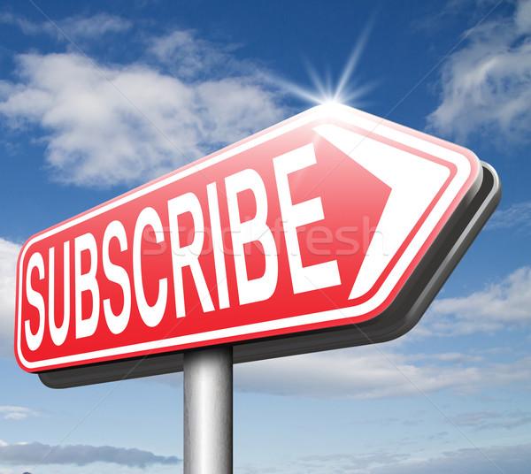 Hier online abonnement gratis lidmaatschap nu Stockfoto © kikkerdirk