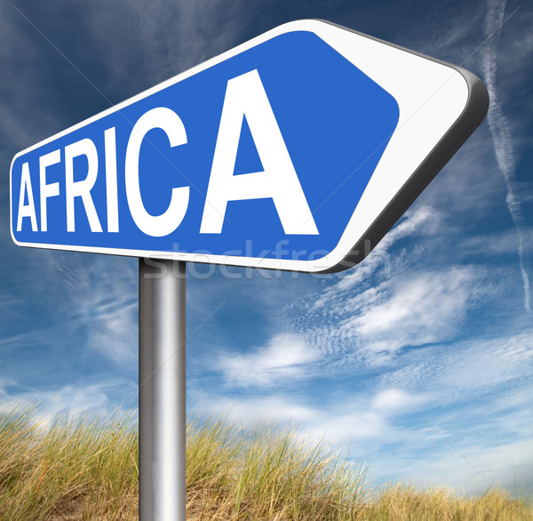 Stock photo: africa sign