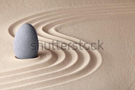 Zen kert harmónia űrlap meditáció pihenés Stock fotó © kikkerdirk