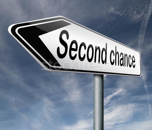 Második esély másik új alkalom ad Stock fotó © kikkerdirk