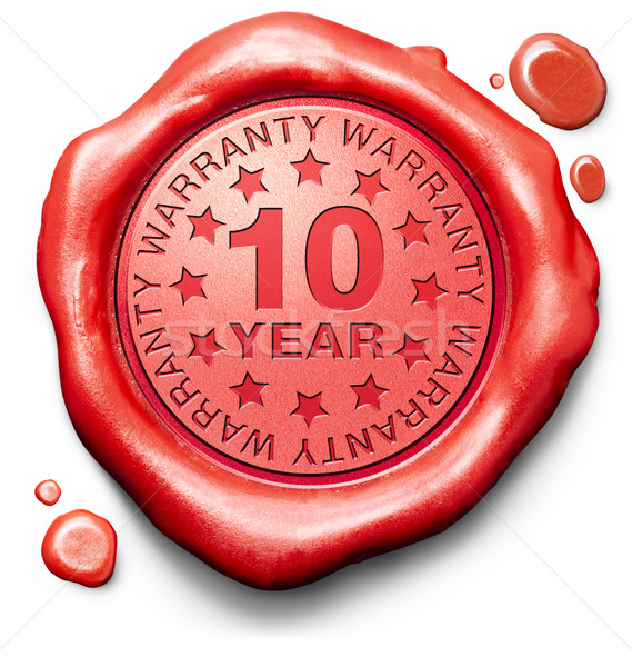 ten year warranty Stock photo © kikkerdirk