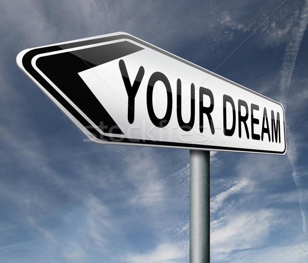 élet álom jött gyártmány álmok valóság Stock fotó © kikkerdirk