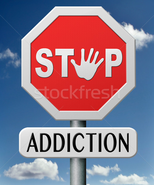 Függőség drog erőszak stop alkohol számítógépes játékok Stock fotó © kikkerdirk