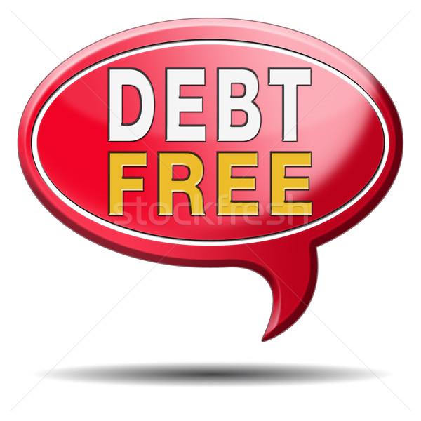 debt free zone Stock photo © kikkerdirk