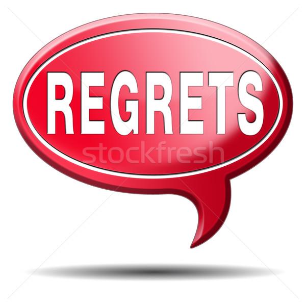 regrets icon Stock photo © kikkerdirk