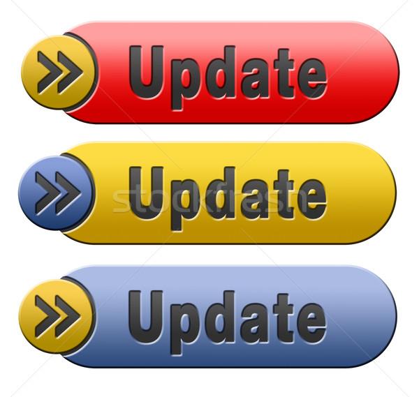 Frissítés gomb szoftver most itt verzió Stock fotó © kikkerdirk