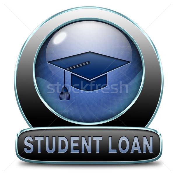 Diák kölcsön kredit alkalmazás tanulás egyetem Stock fotó © kikkerdirk