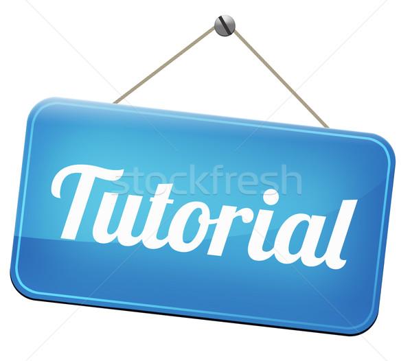 tutorial Stock photo © kikkerdirk