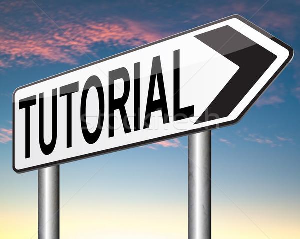 Eğitimi öğrenmek çevrimiçi video ders Stok fotoğraf © kikkerdirk