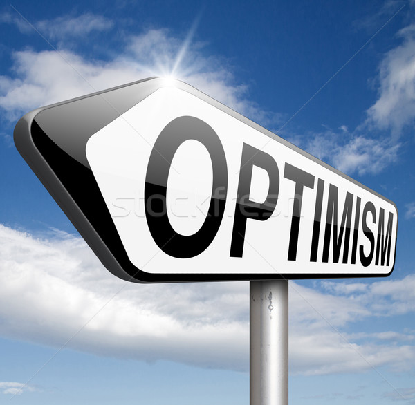 Optimiste optimisme pense positif positivité attitude Photo stock © kikkerdirk