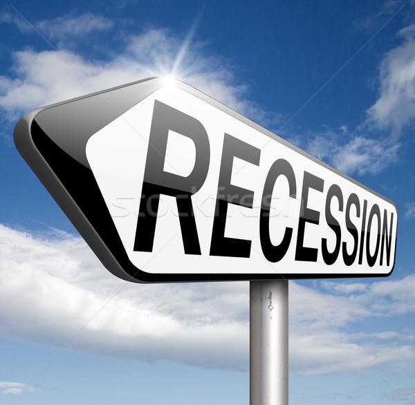 Recessão global econômico crise banco estoque Foto stock © kikkerdirk