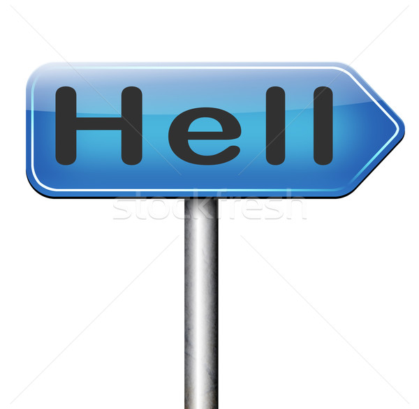 приветствую ад зла дьявол катастрофа знак Сток-фото © kikkerdirk