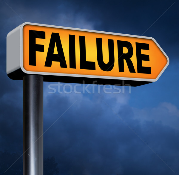 Başarısızlık büyük yol işareti ok sınav Stok fotoğraf © kikkerdirk