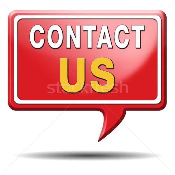 contact us icon Stock photo © kikkerdirk