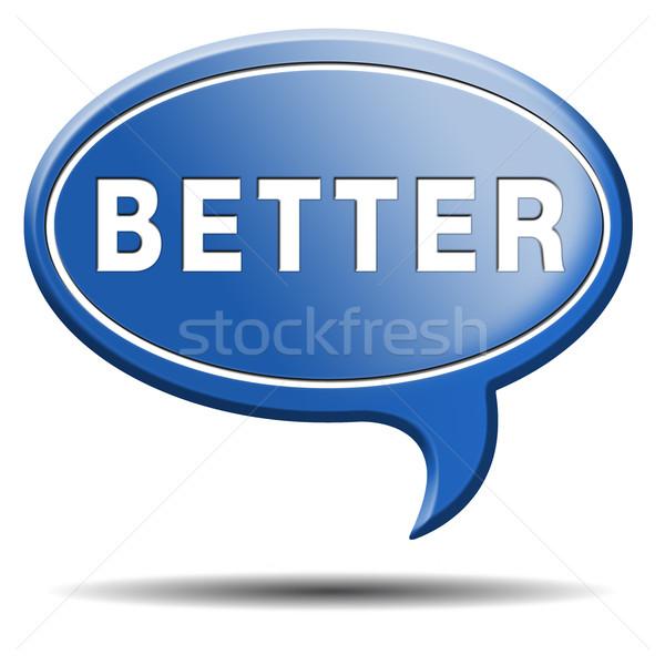 Beter icon knop sticker succes informatie Stockfoto © kikkerdirk