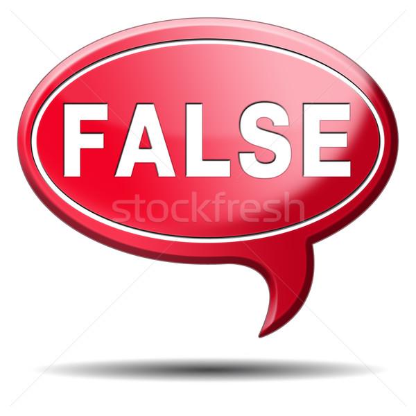 Falso responder errado botão etiqueta ícone Foto stock © kikkerdirk