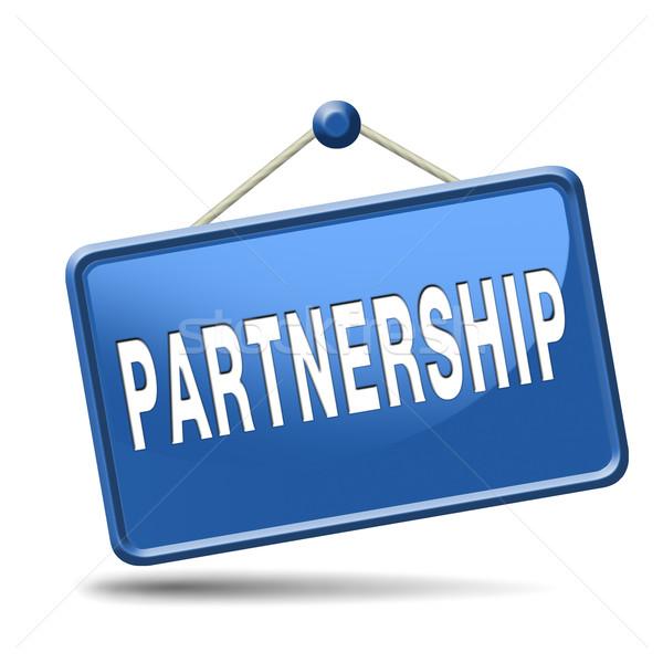 Együttműködés partnerek bűnözés üzleti partner megbeszélés barátok Stock fotó © kikkerdirk