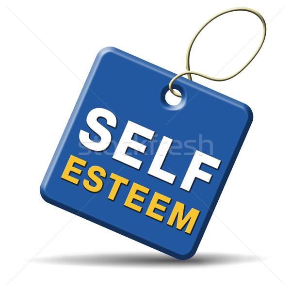 Auto-estima respeito confiança orgulho psicologia assinar Foto stock © kikkerdirk