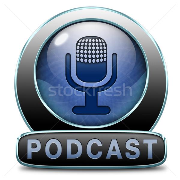 Podcast ascoltare audio musica vivere stream Foto d'archivio © kikkerdirk